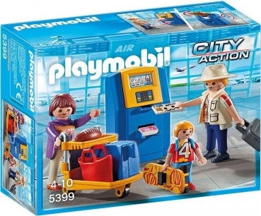 PLAYMOBIL®-Familie am Check-in Automat (5399)
