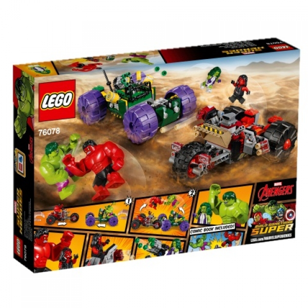LEGO®-Marvel Super Heroes-Hulk gegen Red Hulk (76078)